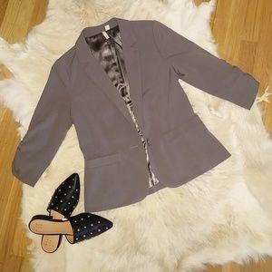 Fitted Grey Blazer